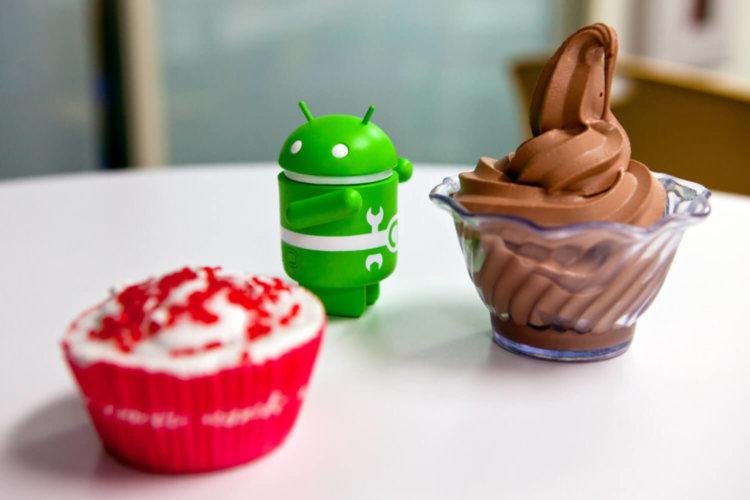 Android в окружении сладостей