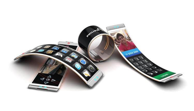 Смартфоны с гибкими дисплеями