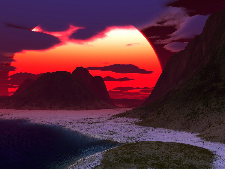 Рассвет в горах? А может быть закат?