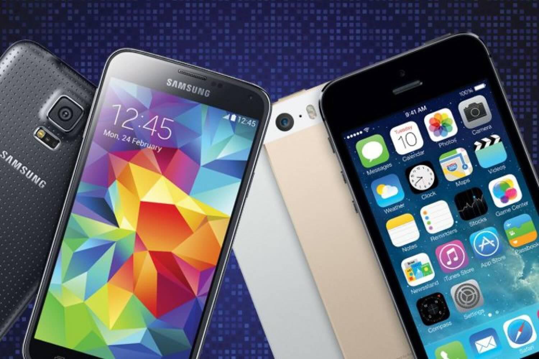 Galaxy S5 и iPhone