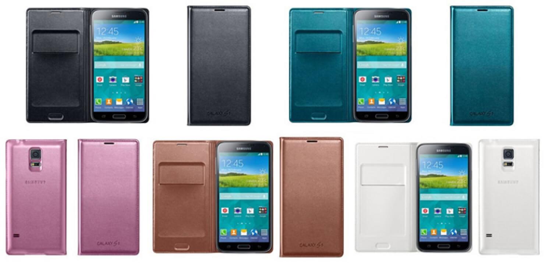 Galaxy S5 Flip Wallet Cover