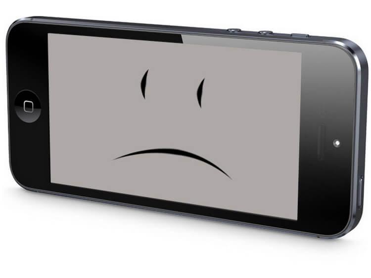 iPhone_5S грустный смайлик