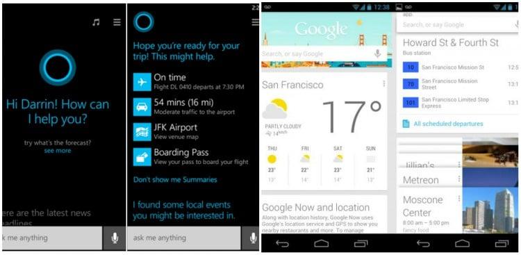 Cortana и Google Now