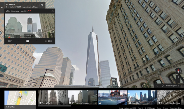 Просмотр улиц на Google Maps