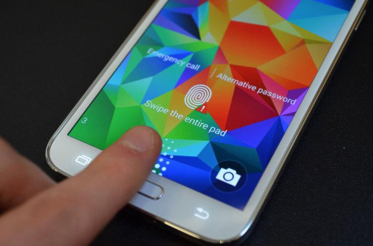 Samsung Galaxy S5 сканер