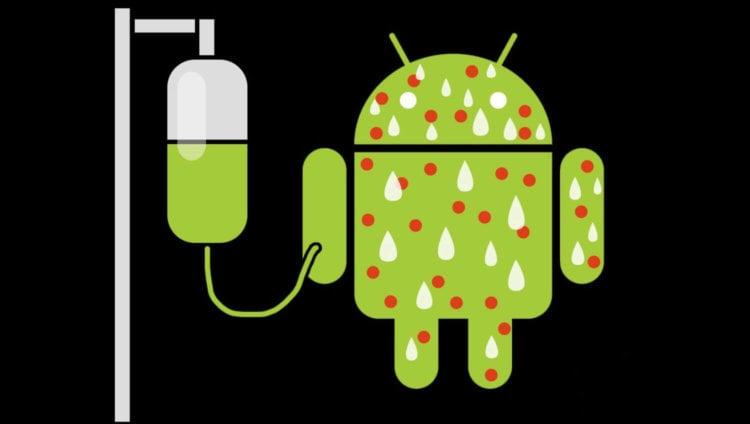 зараженный Android