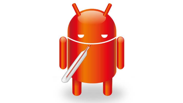 Android с термометром