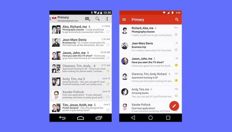 Android 5.0 L Material Design