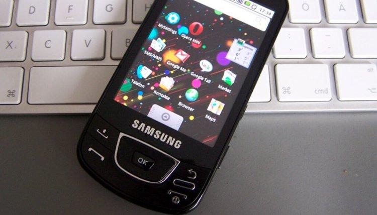 первый Android-смартфон Samsung
