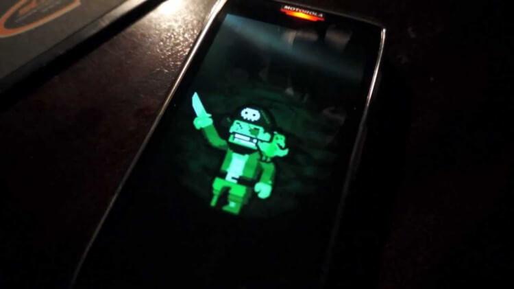 пират на экране Motorola