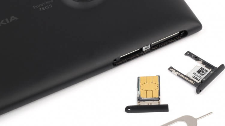 смартфон и sim-карта