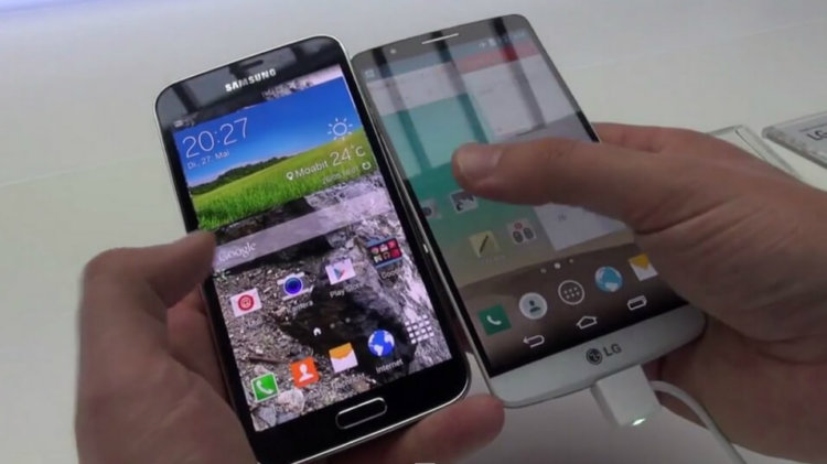 galaxy s5 и lg g3