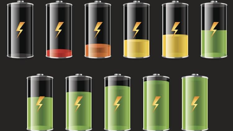 Батареи смартфона