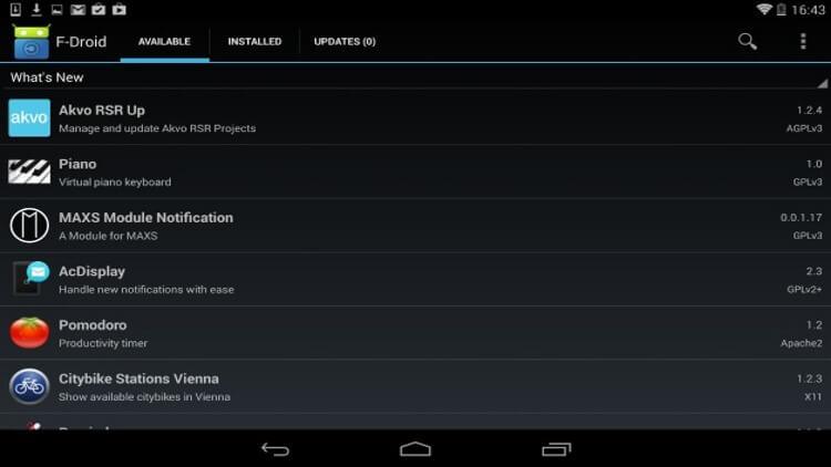 Магазин Android-приложений F-Droid
