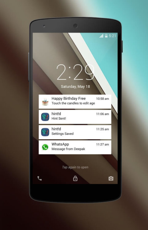 Android L Locksreen