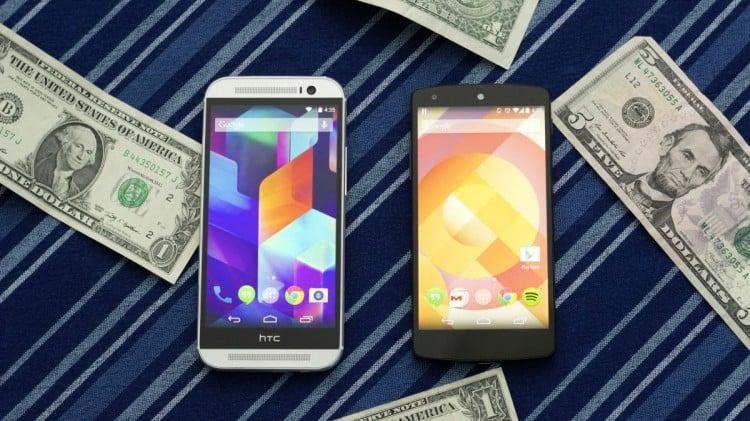 One M8 vs Nexus 5