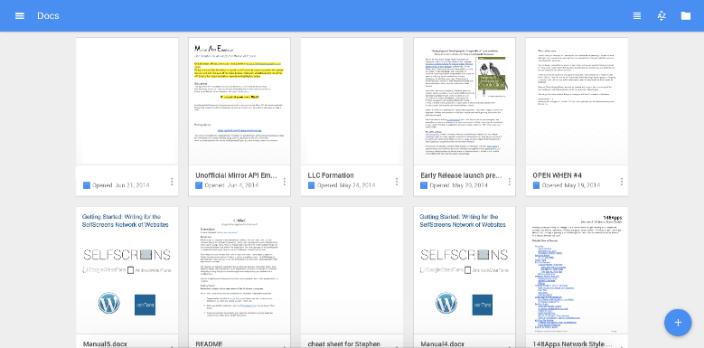 material design в googledocs
