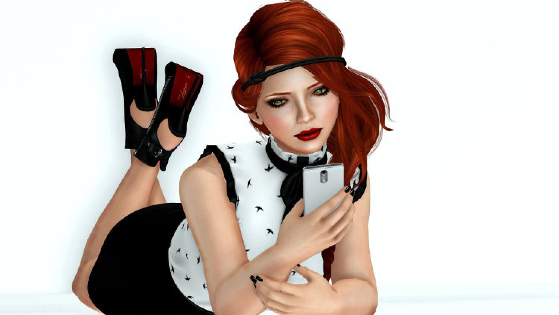 Селфи с телефоном