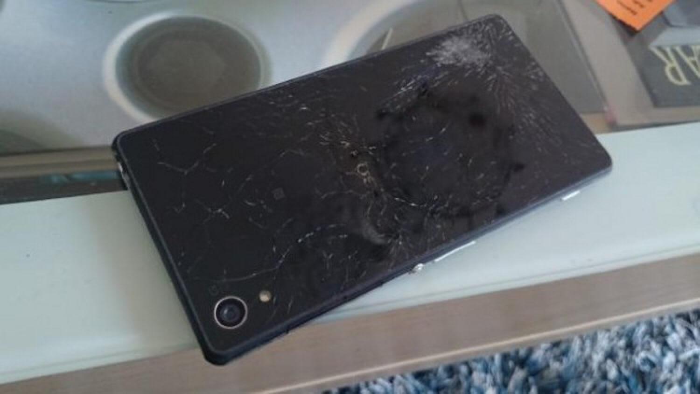 Поврежденная Sony Xperia Z2