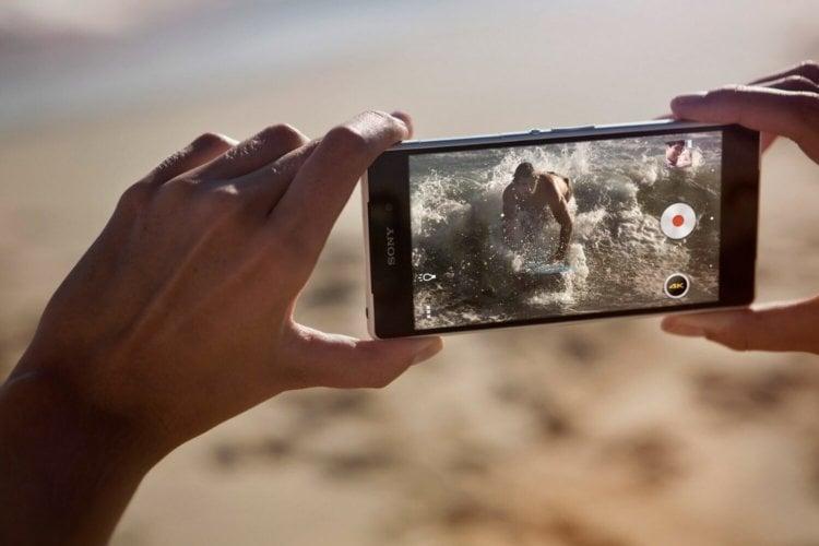 Sony Xperia Z2 запись 4К видео