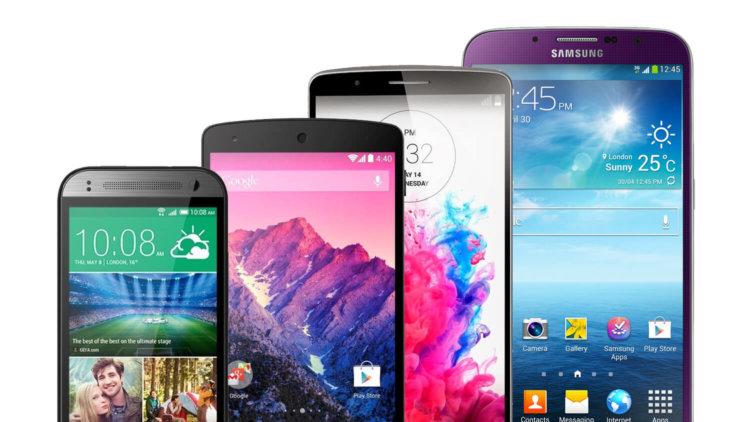 Смартфоны с разными экранами
