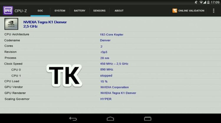 начинка Nexus 9