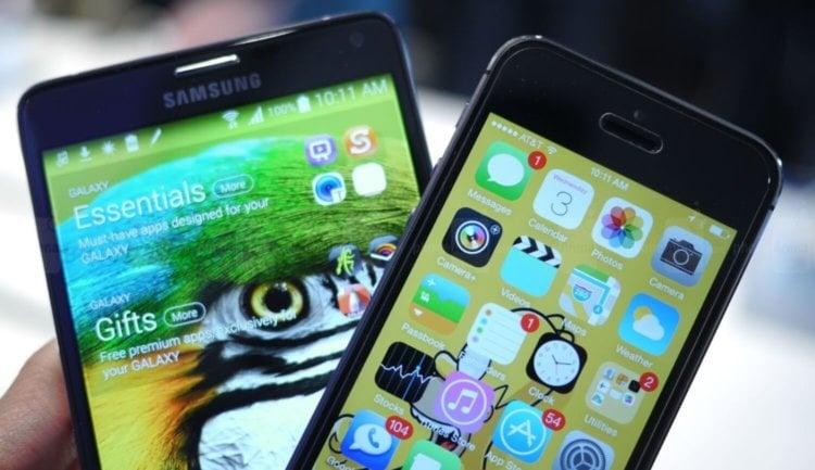 galaxy note 4 vs iphone 6