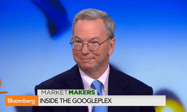 Эрик Шмидт на Bloomberg TV