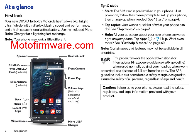 Motorola Droid Turbo инструкция