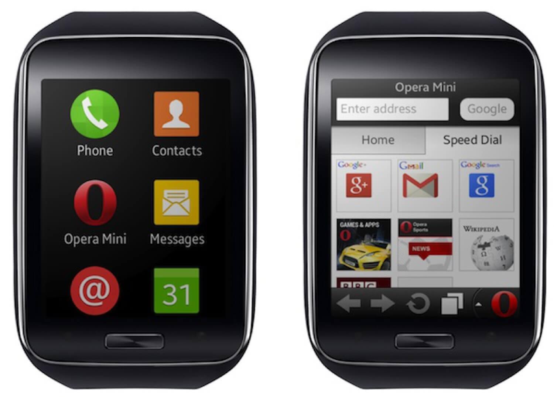 Opera Mini на Samsung Gear S