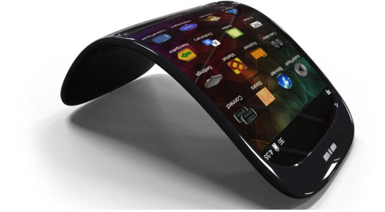 Согнутый смартфон