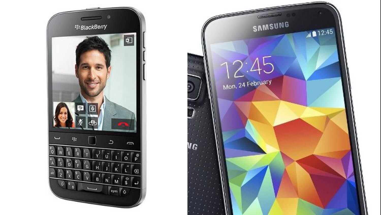 BlackBerry Classic и Samsung Galaxy S5