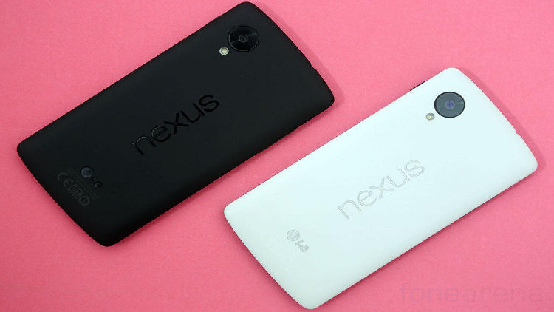 Черный и белый Google Nexus 5