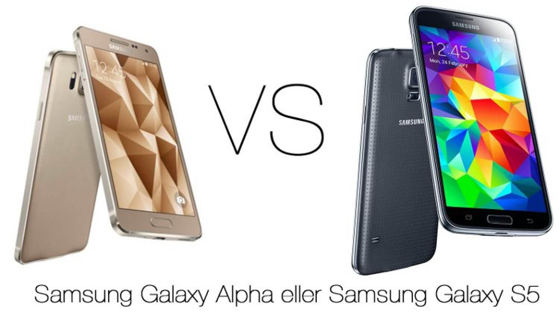 Samsung Galaxy Alpha и S5