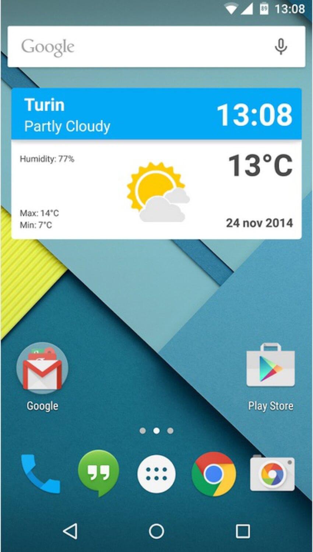 Material Weather Widget