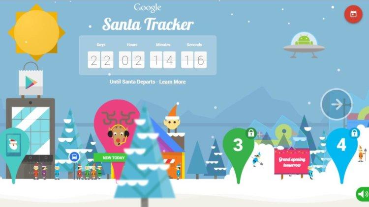 web google santa tracker