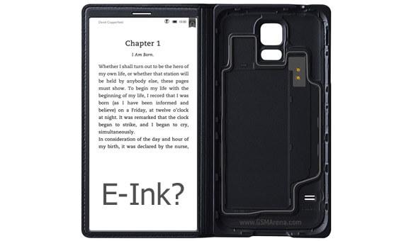 чехол для Galaxy с e-ink дисплеем