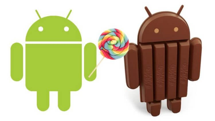 Android Lollipop и KitKat