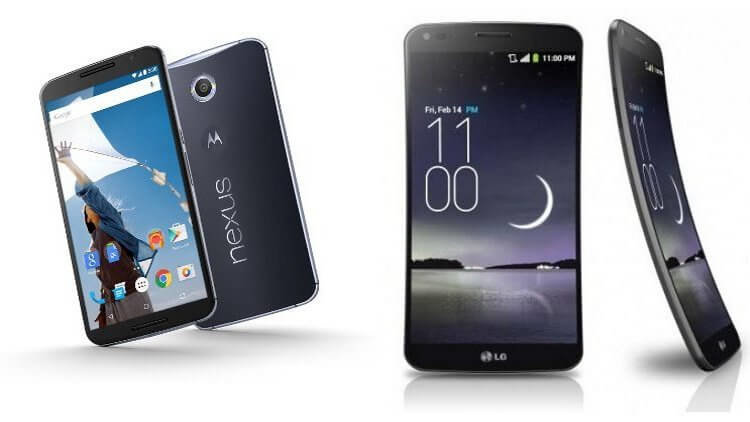 Google Nexus 6 и LG G Flex 2