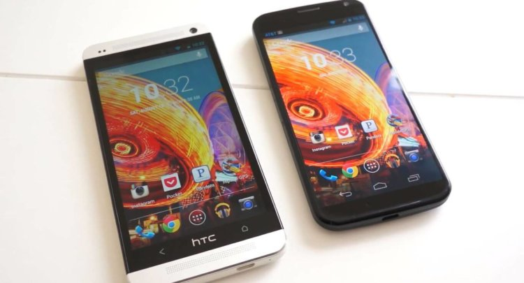 HTC One Google Edition и Moto X