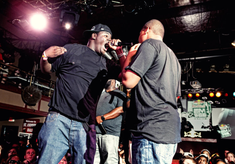 Fowl and D.N.A. final battle of Red Bull Emsee: The Road to 8 Mile National Championship in Detroit on August 26, 2010
