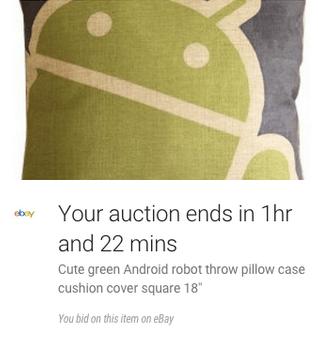eBay google now card