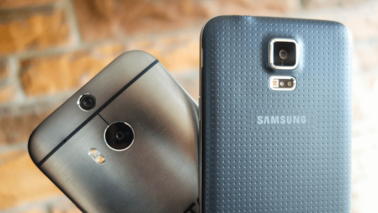 galaxy s5 and htc one m8