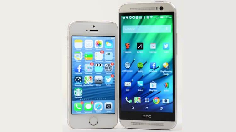 iphone vs htc one m8