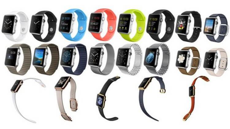 Разнообразие ремешков для Apple Watch
