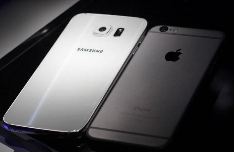 Galaxy S6 и iPhone