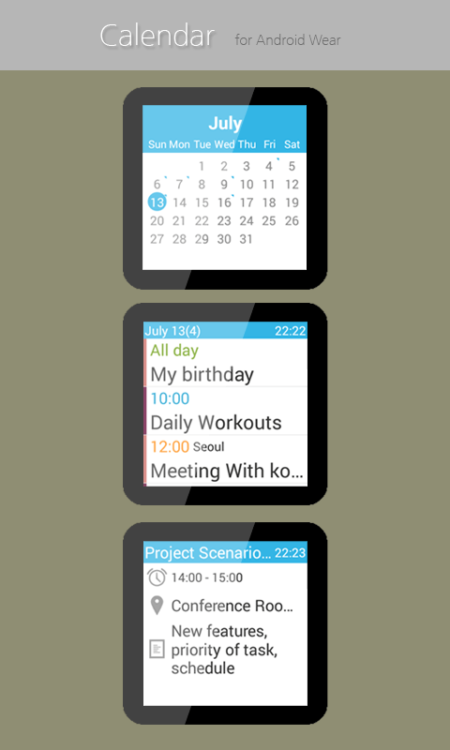 Calendar-for-Android-Wear