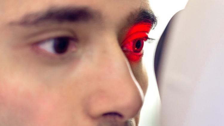 Сканирование сетчатки глаза