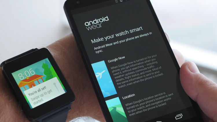 android wear settings