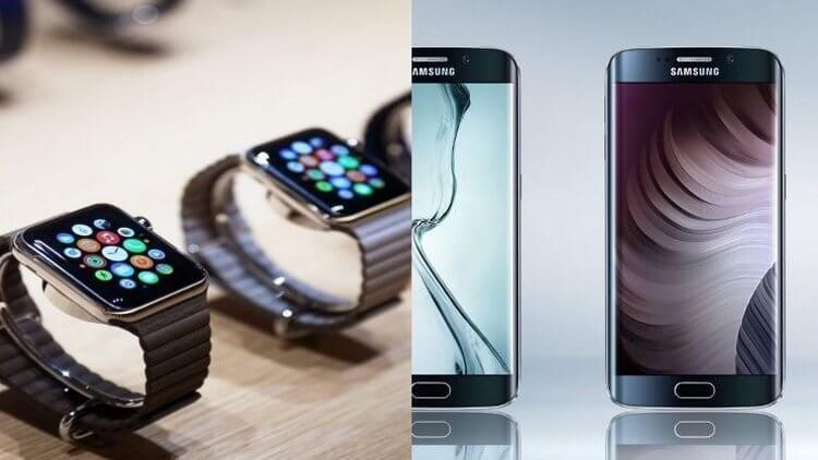 Apple Watch и Galaxy S6 Edge